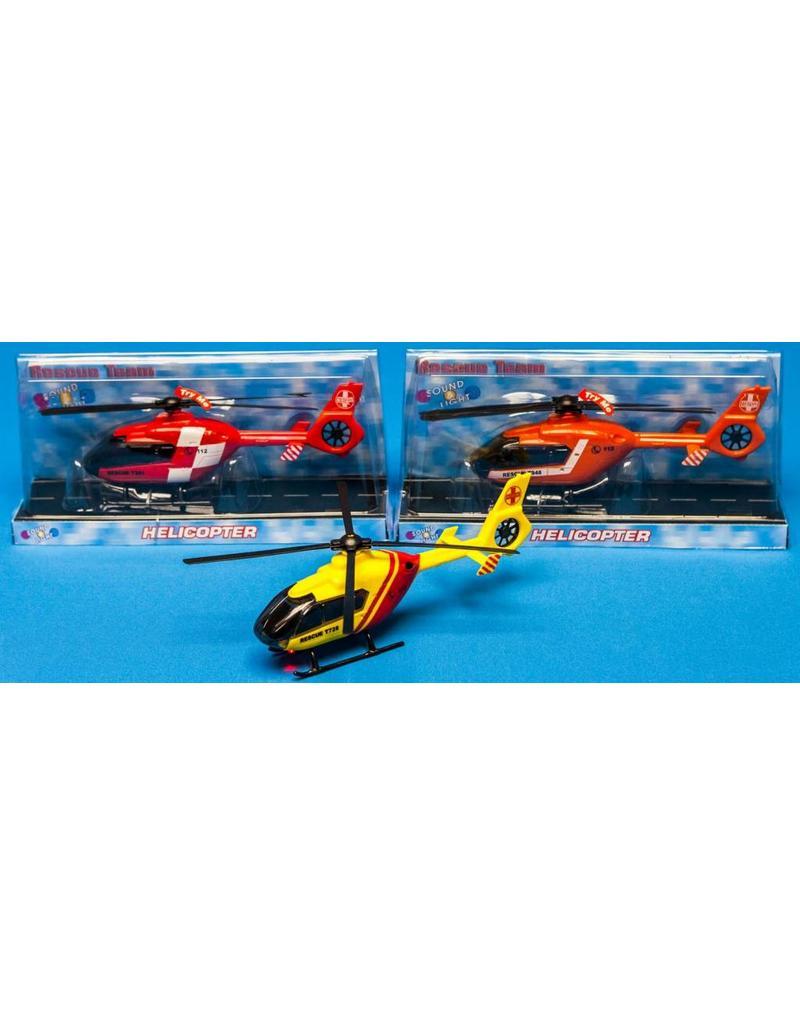 2-Play Reddings Helicopter met licht&geluid 3 ass. kleur