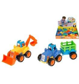 Tractor + aanhanger 16cm. ass. model +12mnd per 6 in display