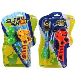 Smash Shot Katapult 2 ass. model op kaart à 28x18cm.