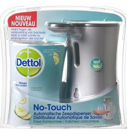Dettol No-Touch Dispenser + Handzeep Komkommer 250ml.