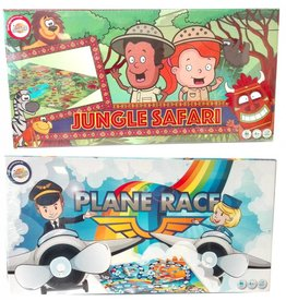 Bordspel Jungle Safari/Plane Race 4 jaar 2-4pers. ds 41x21cm