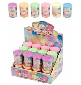Putty Stuiterklei 16ml. 6 ass. kleur per 24 in display