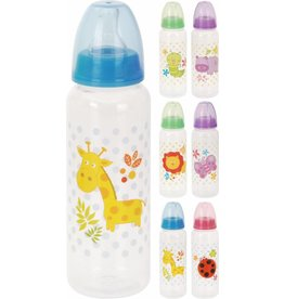 Zuigfles 250ml ass.dierenprint