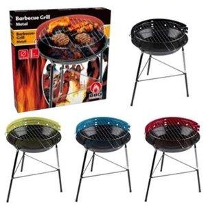 Barbecue h=43cm dia=33cm ass. kleur