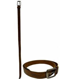 Leren Riem ass. mt. 110-115-120-125cm. bruin