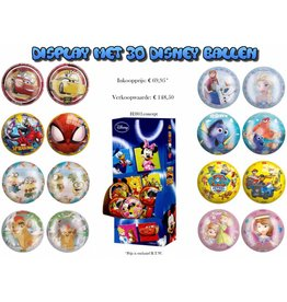 Display met 30 Disneyballen