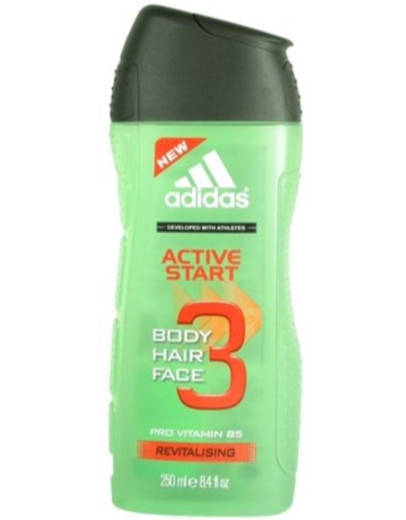 Adidas Active Start Body, Hair & Face Gel 3in1 250ml