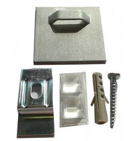 Plakhakenset 4x4cm. voor Aluminium Platen