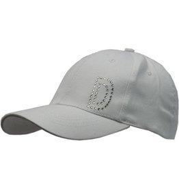 Cap Dames Wit met D in strassteentjes mt 58