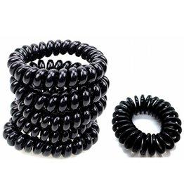 Elastische Telefoon bandjes  zwart 12st  KLEIN