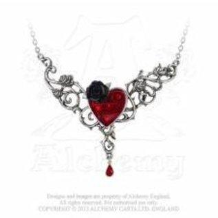 Alchemy bloed roos hart  ketting