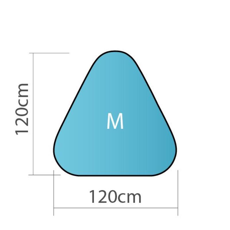 Pop up banner, driehoek, M - 120x120cm
