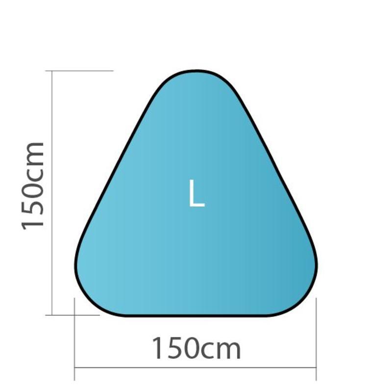 Pop up banner, driehoek, L - 150x150cm