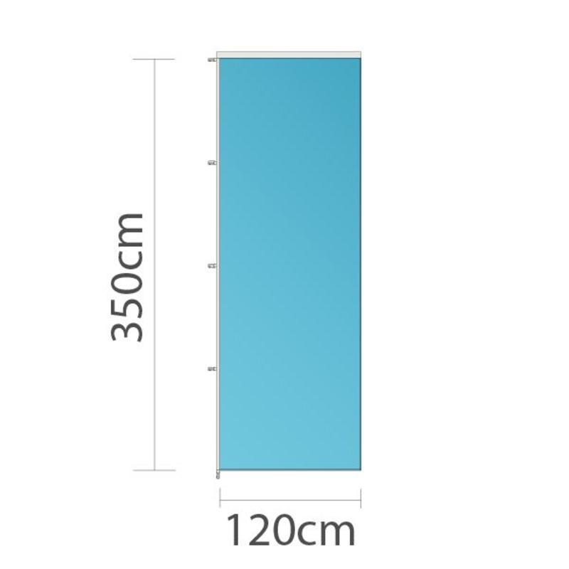 Banier, full colour bedrukt, 120x350cm