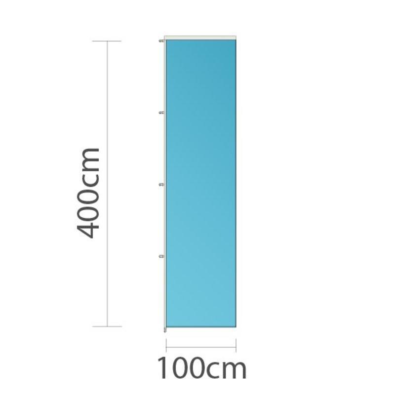 Banier, full colour bedrukt, 100x400cm