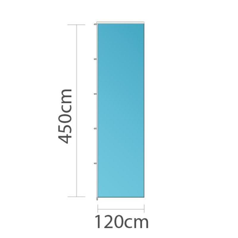 Banier, full colour bedrukt, 120x450cm