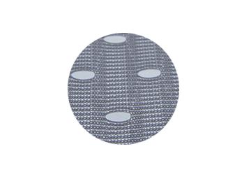 Materiaal beachvlag, 120gr/m2 polyester air textiel (gaatjesdoek / mesh doek)