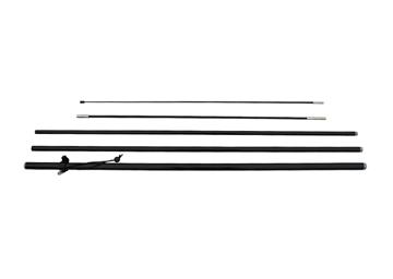 Materiaal beachvlag mast, aluminium en glasfiber