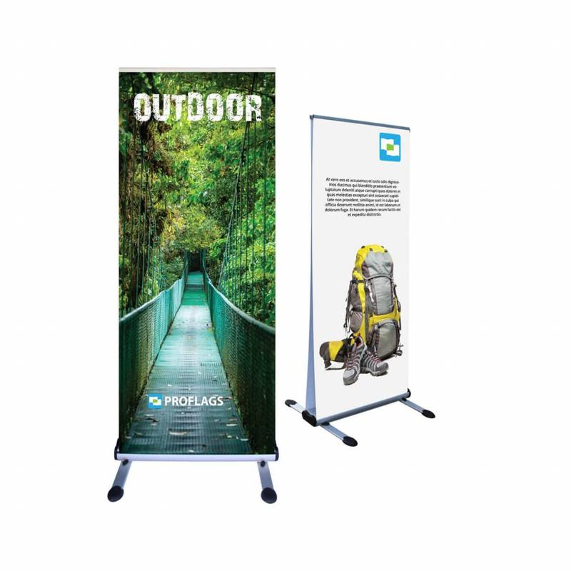 Roll up banner outdoor double sided