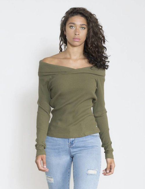 Jacky Luxury Off - shoulder top