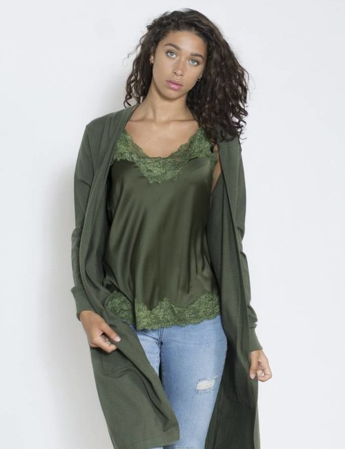 Jacky Luxury Kanten top  army