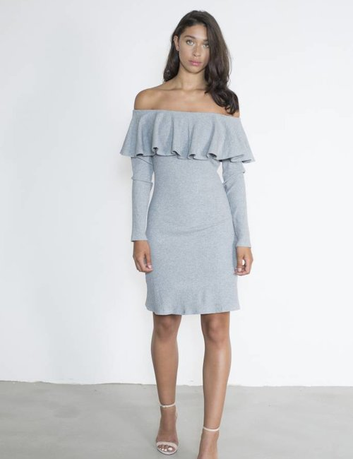 Jacky Luxury Off - shoulder ribjurk