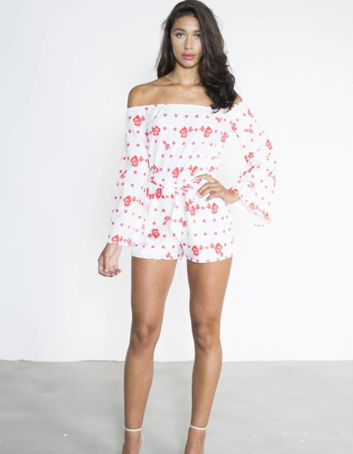 Jumpsuit flower print