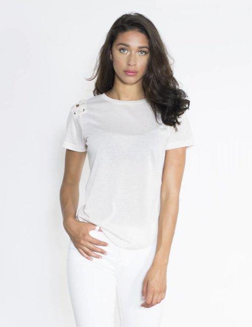 Jacky Luxury T-shirt met rijgsluiting