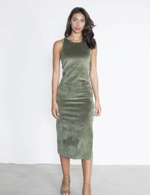 Jacky Luxury Midi-jurk van velours