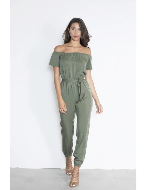 Jacky Luxury Off-shoulder jumpsuit