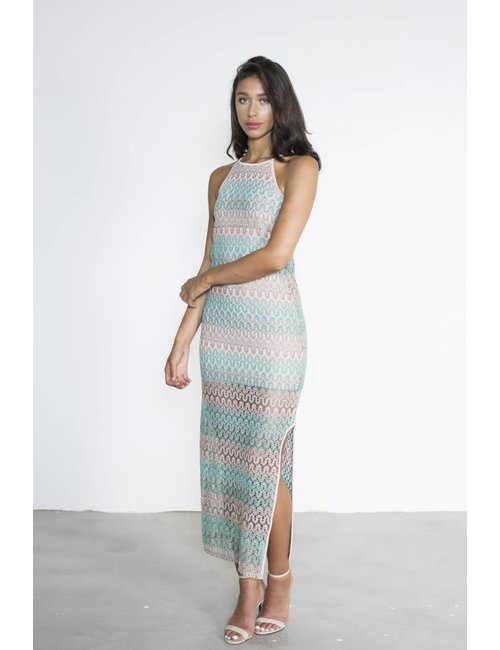 Jacky Luxury Maxi jurk knit print