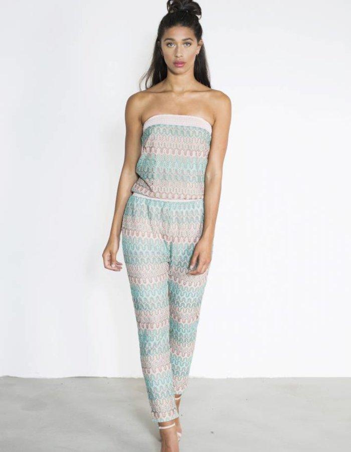 Jumpsuit knit print