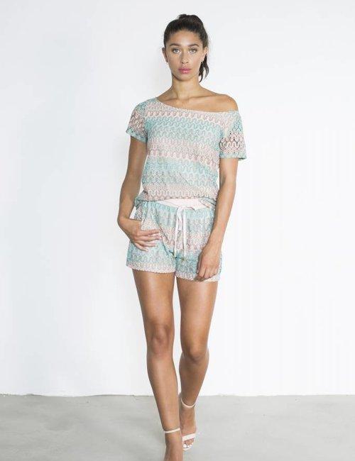 Short knit print