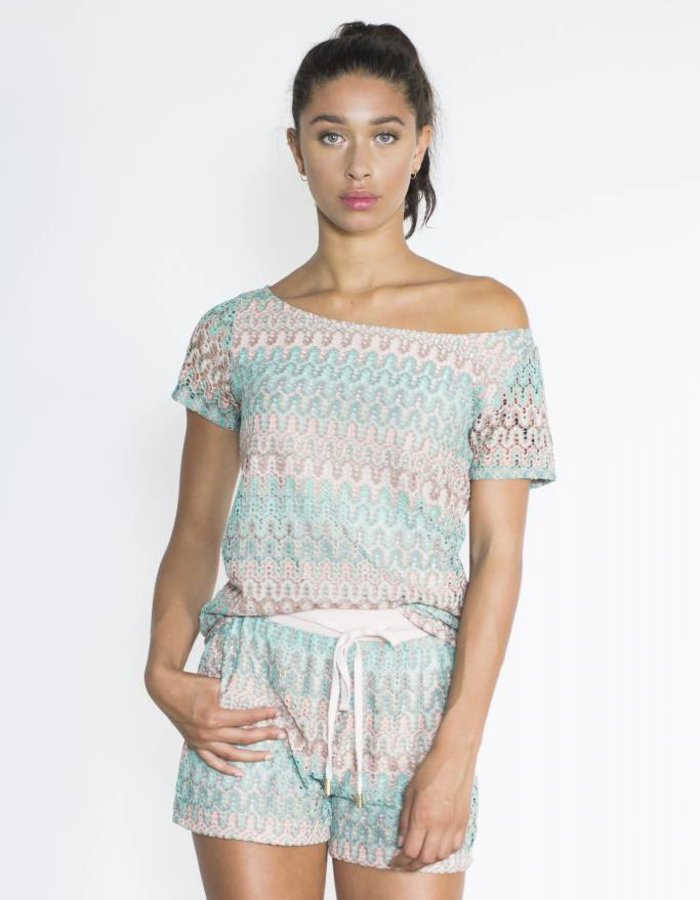 T-shirt knit print