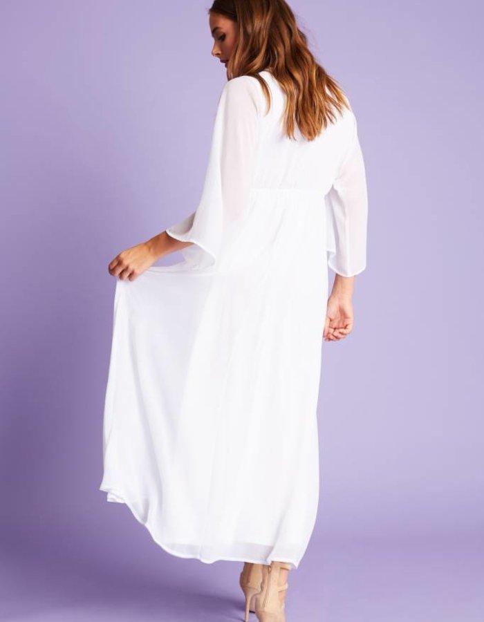 Maxi-jurk met striksluiting