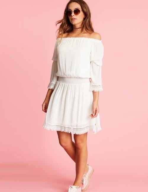 Jacky Luxury Off-shoulder jurk met details