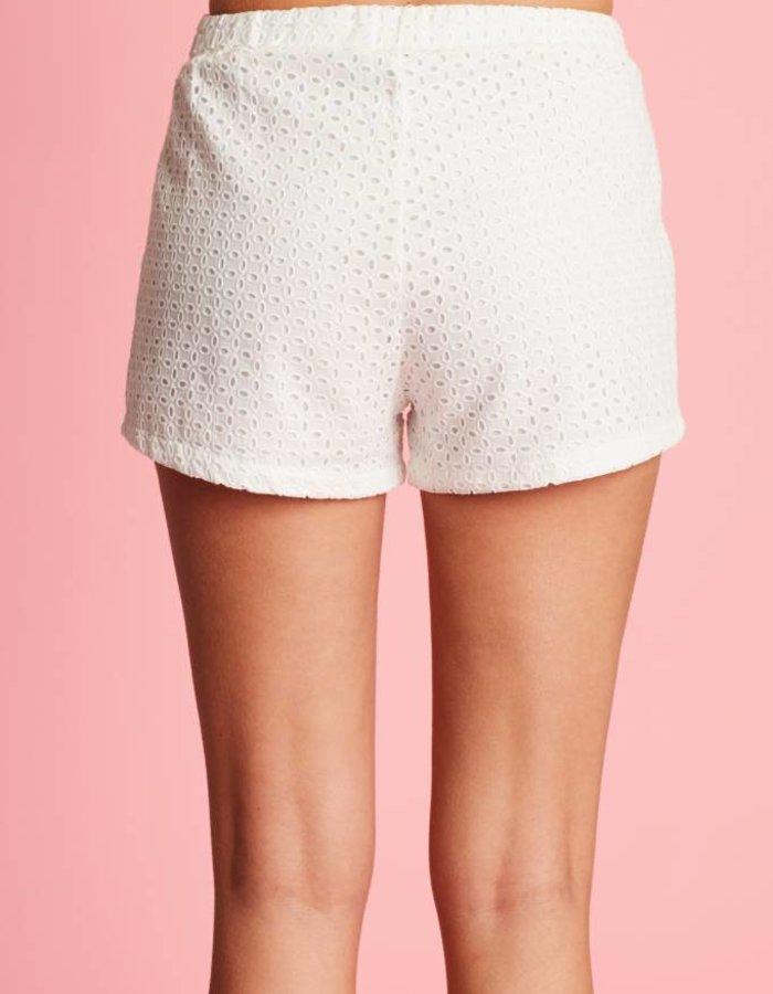 Shorts met ingeweven dessin