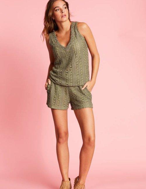 Jacky Luxury Gehaakte loose fit shorts