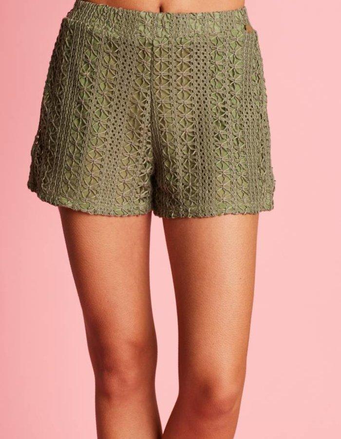 Gehaakte loose fit shorts