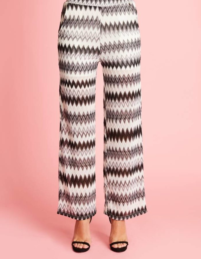 Loose fit broek met ingeweven dessin