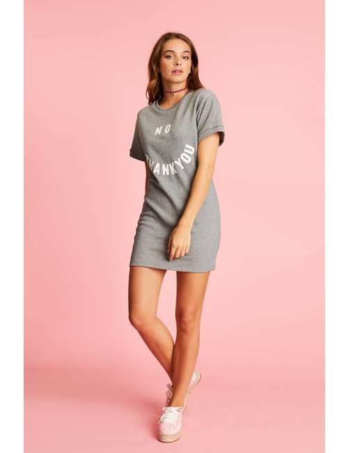 Jacky Luxury T-shirtjurk met statement print
