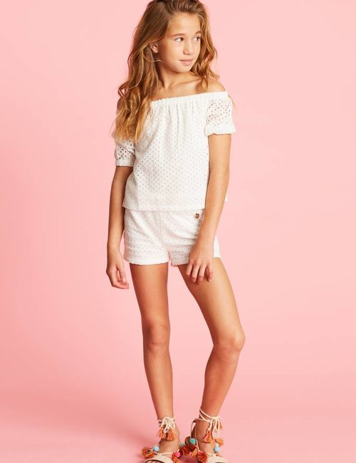 Jacky Luxury Shorts met broderie anglaise