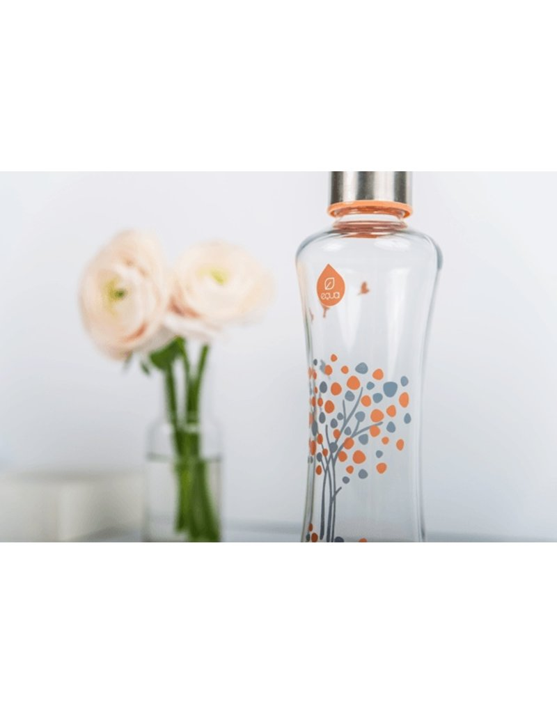 Equa Drinkfles glas peach tree
