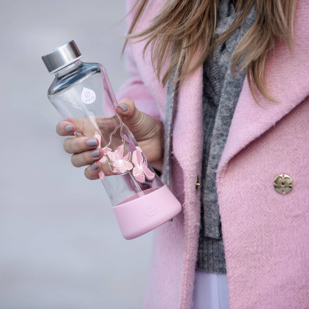 Equa Drinkfles van glas Magnolia