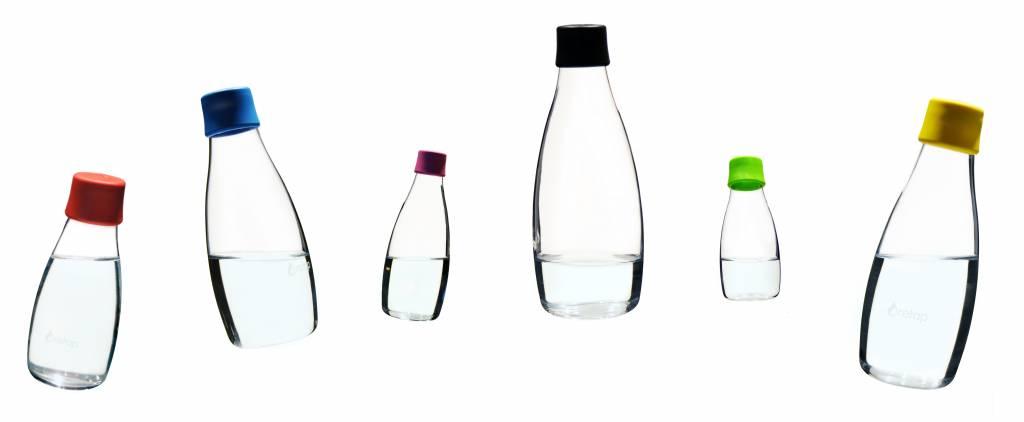 Puur water drinken met hervulbare drinkflessen van glas!