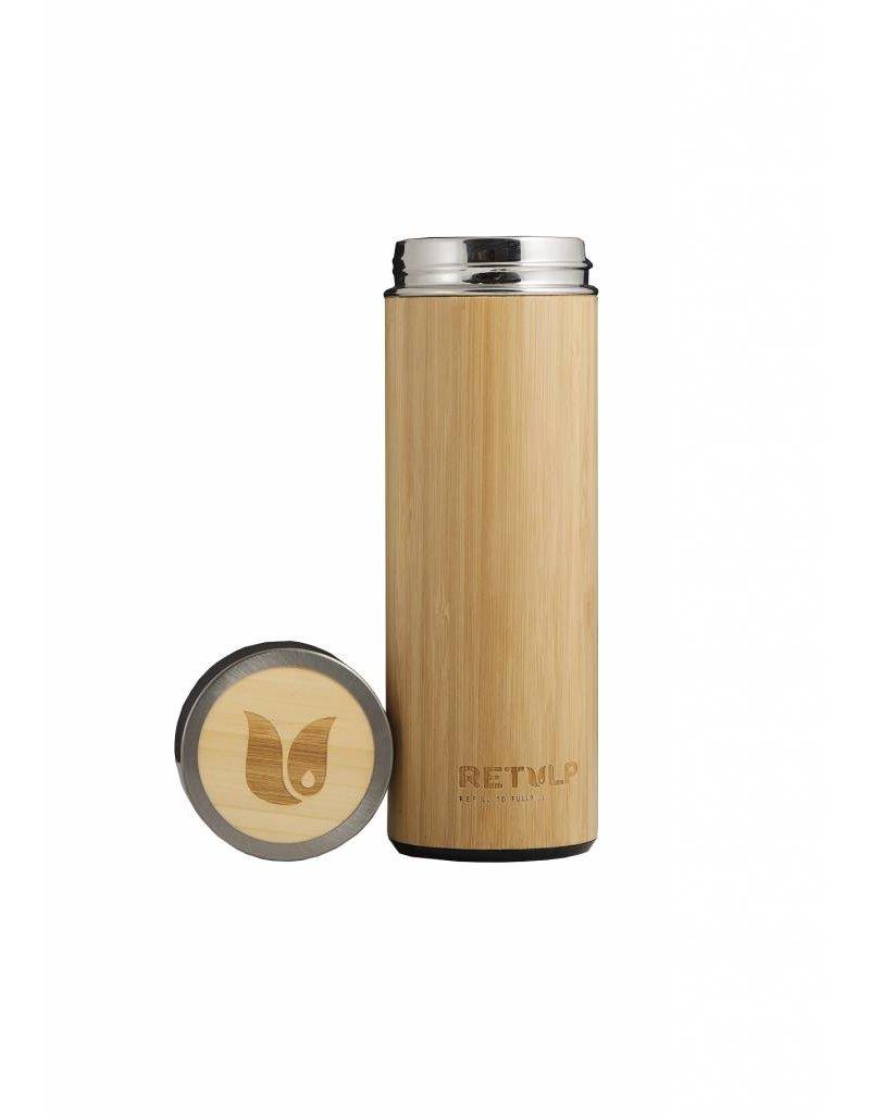 Tulper Bamboe en RVS thermosfles