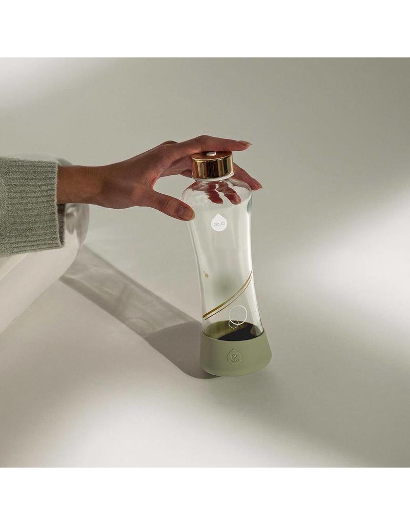 Equa Waterfles Metallic Goud