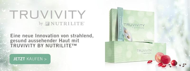 TRUVIVITY BY NUTRILITE™ Aktion: BEAUTY-GETRÄNKEPULVER und NAHRUNGSERGÄNZUNG FÜR DIE SCHÖNHEIT
