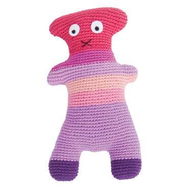 Sebra Gehaakte knuffel Crazy Teddy Pink