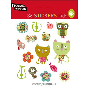 Nouvelles Images Mini stickers Cats, owls, birds